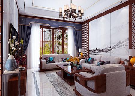 太原装修公司中式风格案例:碧桂园别墅