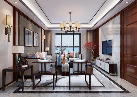 太原装修公司中式风格案例:龙城湾