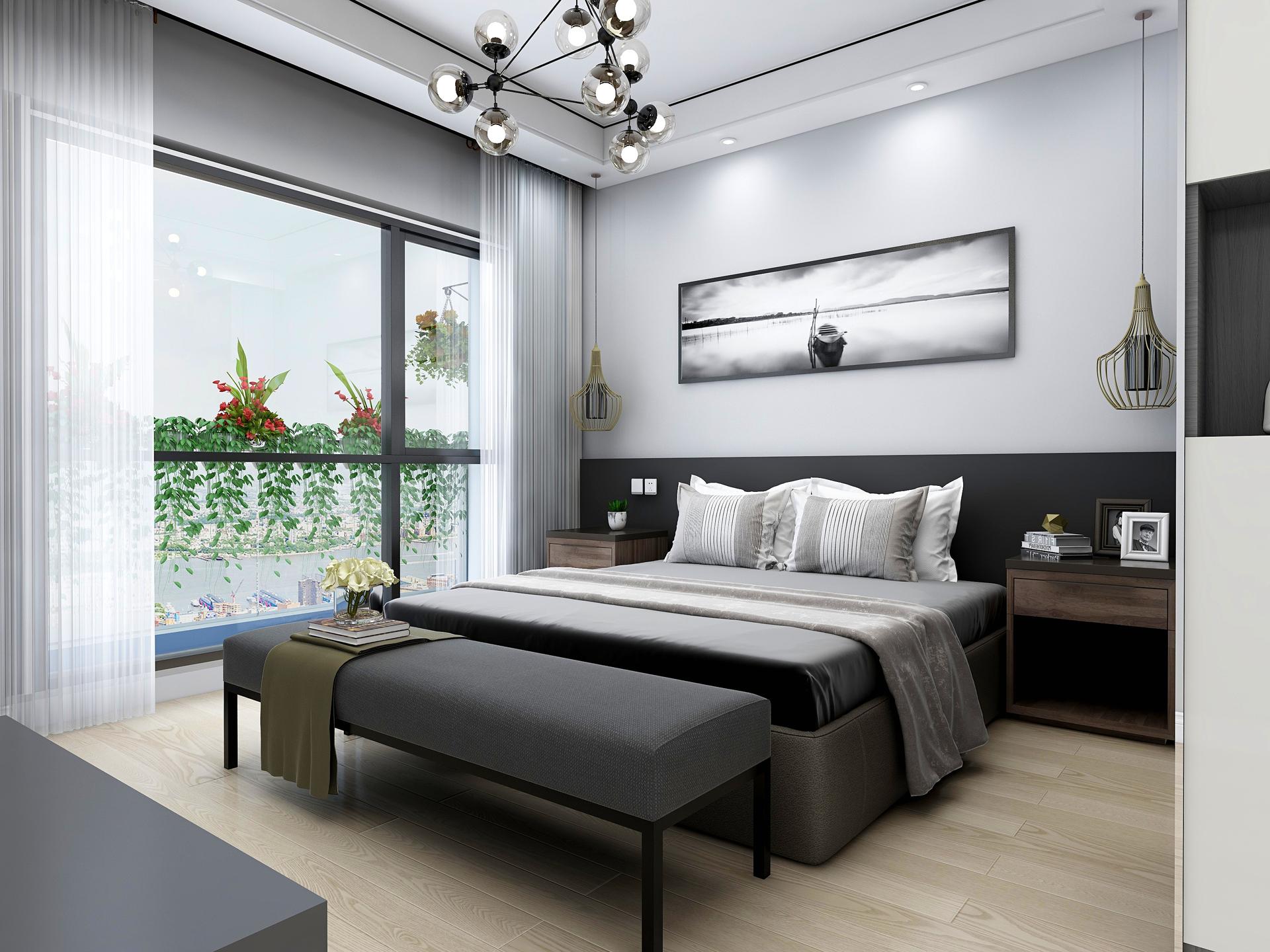 卧室在设计装修时应考虑到静音、储物、功能以及色调等所有的因素!