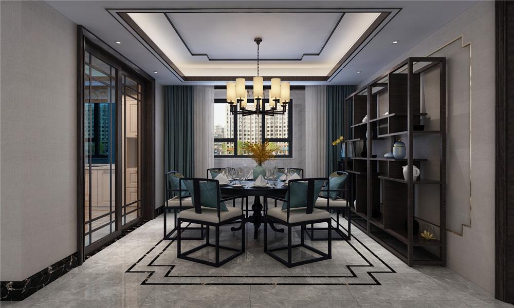 古樸的中式風格家具搭配餐邊柜,讓整個家中中式意境更足。