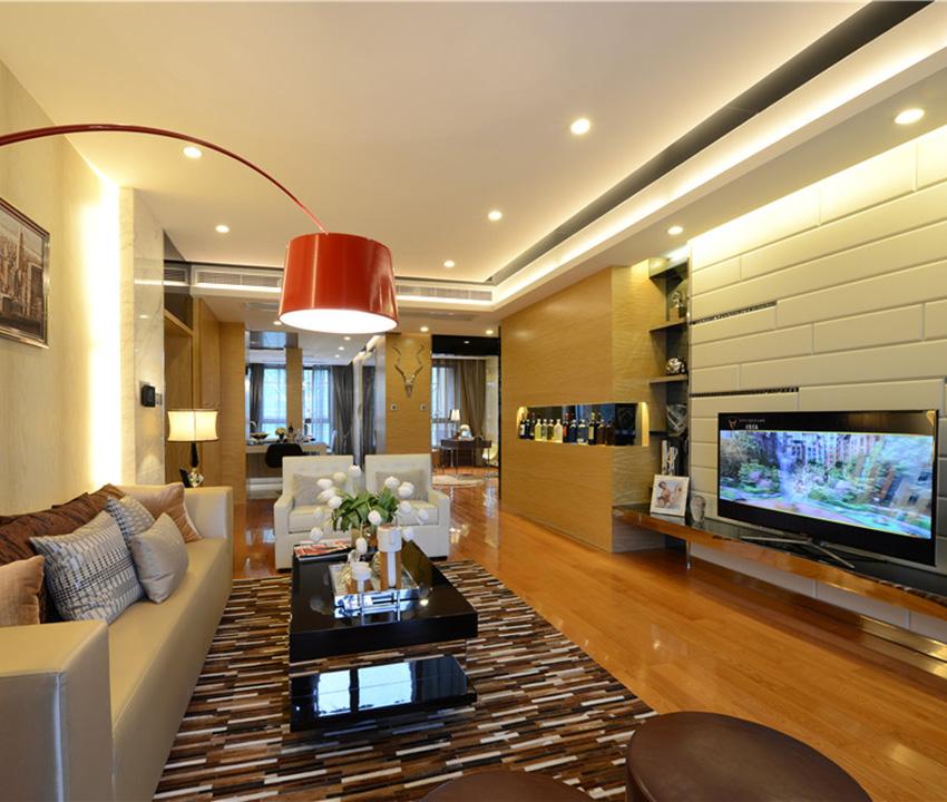 将多种设计元素融合在一起,只为了让空间尽显奢华感!