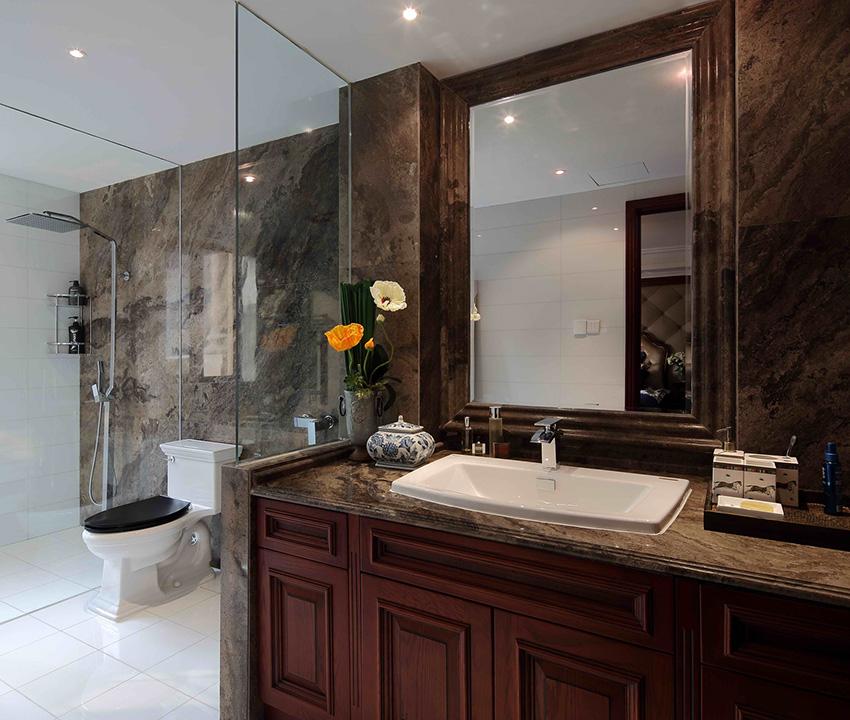 衛生間功能區分布非常的明顯,淋浴區、衛生間、洗漱區互不影響!