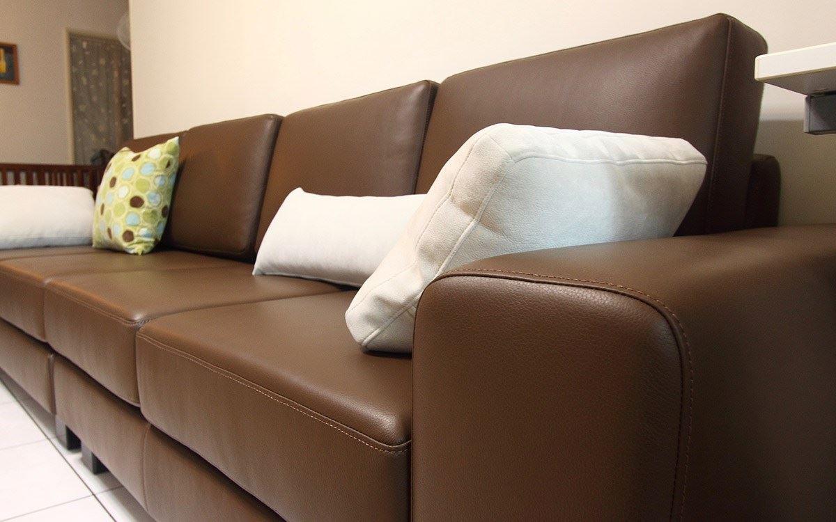 皮沙发的搭配