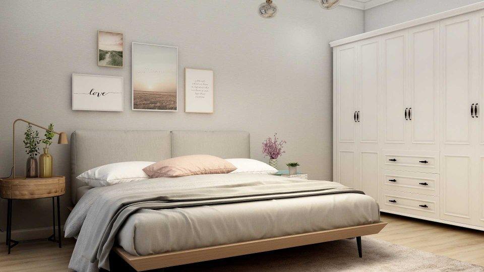 富力八号园两室两厅一卫北欧装修风格