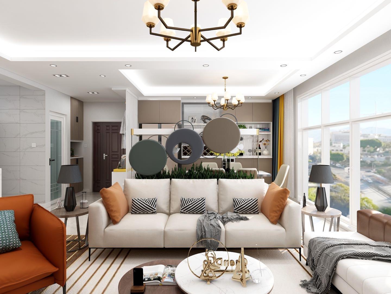 忻州御龙庭三室两厅两卫现代简约风格