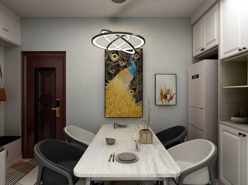 金山九龙湾三室两厅两卫现代简约风格