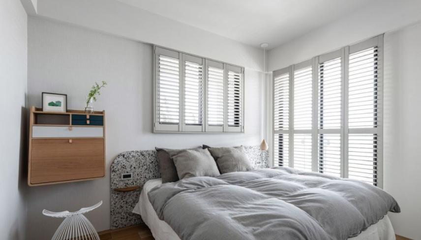 太原卧室装修床头置物小平台