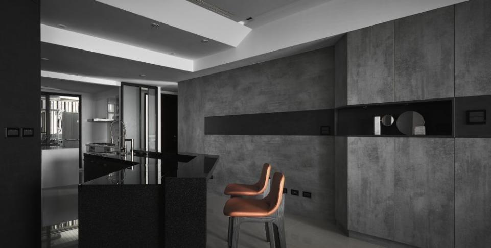 现代简约装修风格之黑白灰的配色