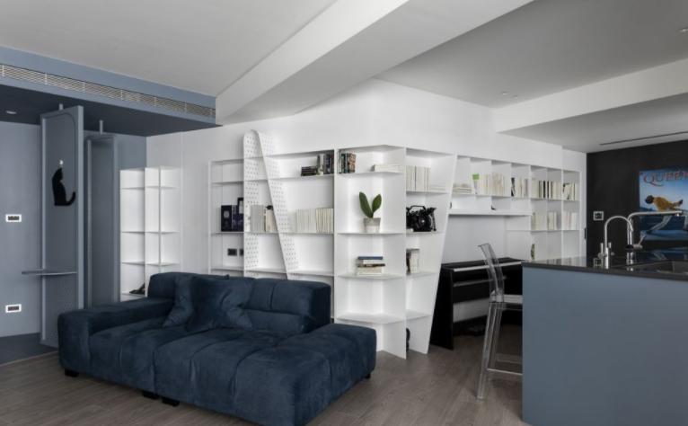 客厅和厨房合并扩大空间利用率