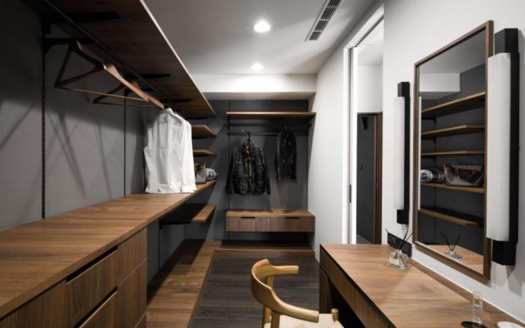 结合更衣室设计化妆台