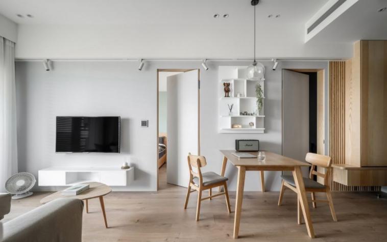 清新又耐看的浅色地板和家居