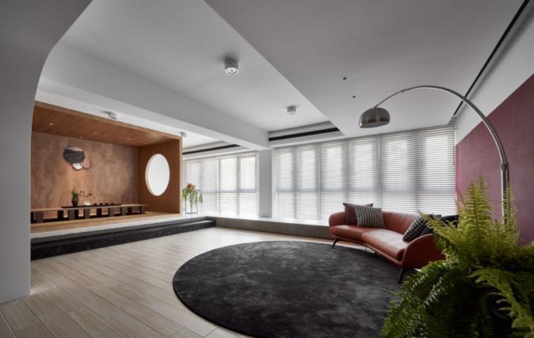 暖色调的客厅装修效果图